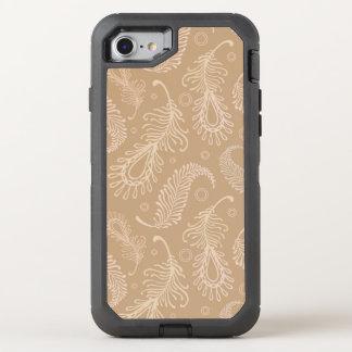 Rétro-feater-pâle-motif Coque OtterBox Defender iPhone 8/7