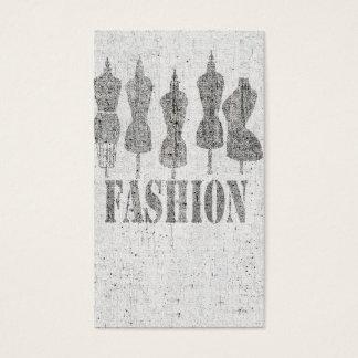 Rétro forme vintage mignonne de robe de tailleur cartes de visite