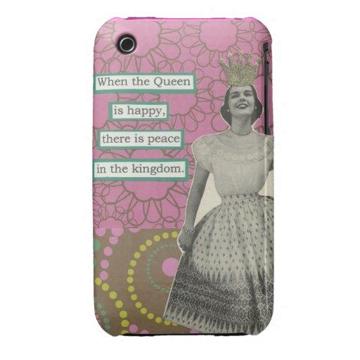 Retro geval van de Koningin iphone3 iPhone 3 Case-Mate Hoesjes