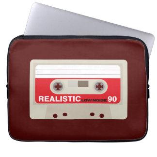 Rétro graphique nostalgique de cassette de housse ordinateur