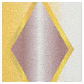 Rétro gris blanc jaune chic de tissu unique