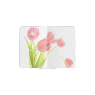 Retro het paspoorthouder van de tulpenbloem paspoort houder