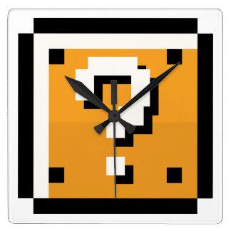 rétro horloge de 8 bits