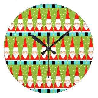 Rétro horloge murale ronde géométrique de Père