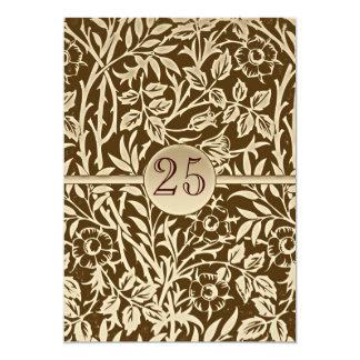 retro huwelijksverjaardag 12,7x17,8 uitnodiging kaart