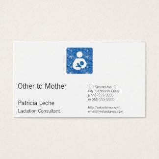 Rétro icône de soins de style d'impression cartes de visite
