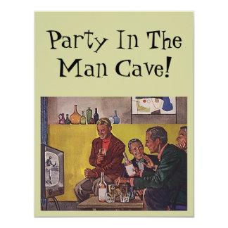 Rétro invitation d'accueillir le thème de caverne