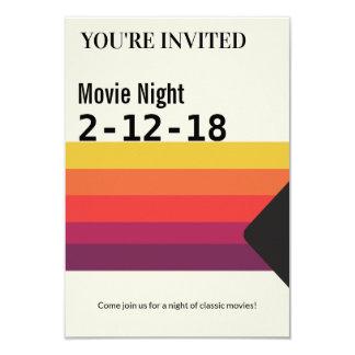 Rétro invitation de cassette vidéo de VHS des
