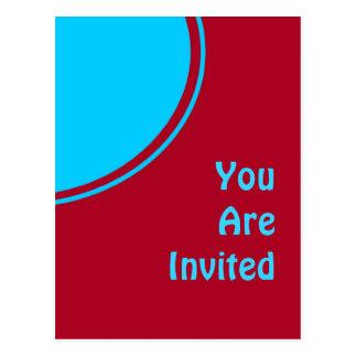 Rétro invitation de partie de turquoise rouge