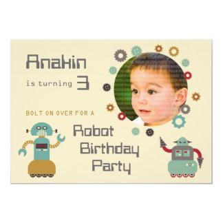 Rétro invitation de photo d'anniversaire de partie
