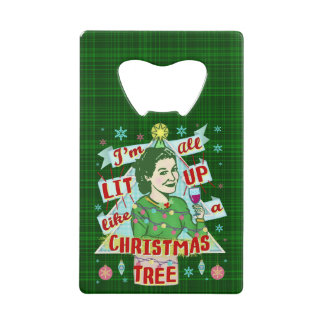 Rétro Lit potable de femme d'humour de Noël drôle