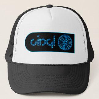 Rétro logo de vinyle - noir et bleu casquette