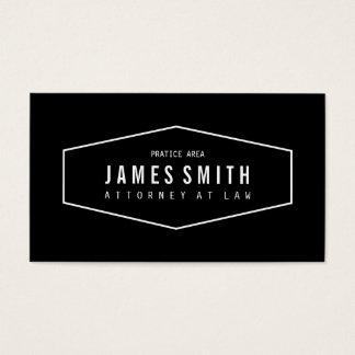 Rétro mandataire professionnelle noire et blanche cartes de visite