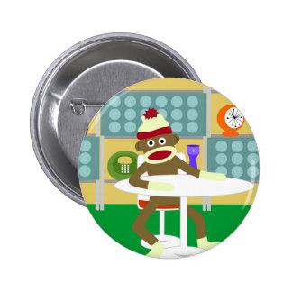 Retro Moderne Aap van de Sok Speld Buttons