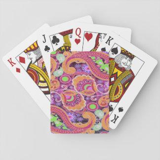 Rétro motif de Paisley d'abrégé sur génial pourpre Cartes À Jouer