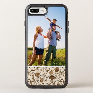 Rétro motif floral de photo coque otterbox symmetry pour iPhone 7 plus