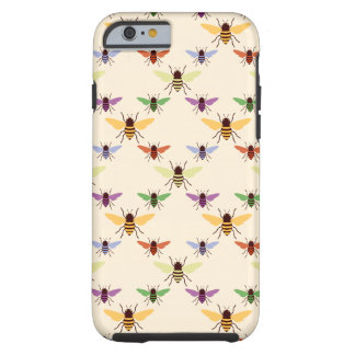 Rétro motif multi de bourdons d'abeilles coque tough iPhone 6