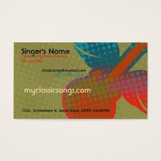 Rétro musique cartes de visite