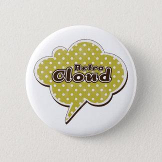 Rétro nuage badge rond 5 cm