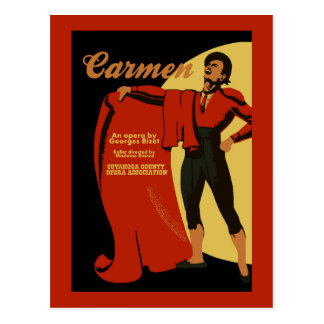Rétro opéra vintage de Carmen d'art (torero) Carte Postale