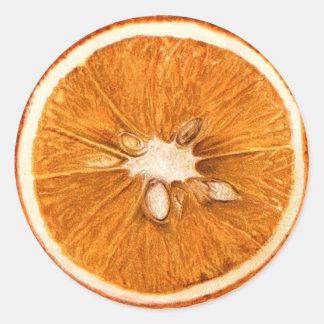 Retro Oranje Plak om Stickers