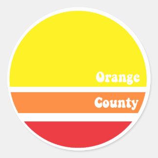 Retro Oranje sticker van de Provincie