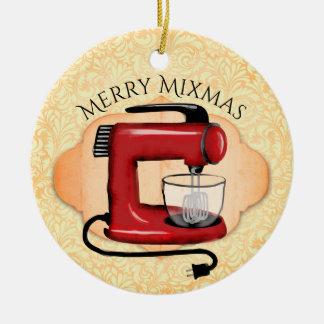 Rétro ornement de Noël de cuisson de mélangeur de