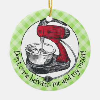 Rétro ornement de Noël de mélangeur de support de