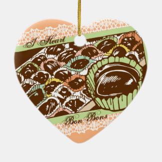 Rétro ornement de Noël de sucrerie de fèves de