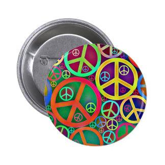 Rétro paix de cru de mod badges avec agrafe