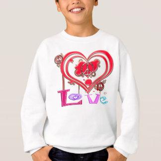 Rétro paix et amour sweatshirt