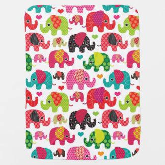 rétro papier peint de motif d'enfants d'éléphant couverture de bébé