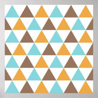 Retro Patroon van de Driehoek van de Kleur Poster