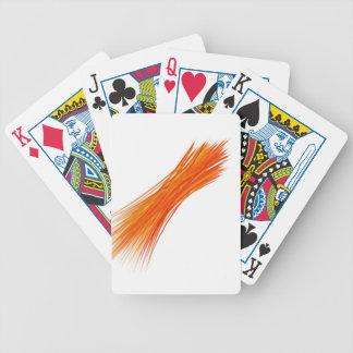 Rétro peinture abstraite orange jeu de cartes