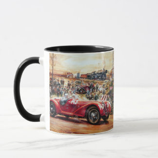 Rétro peinture de voiture de course mug