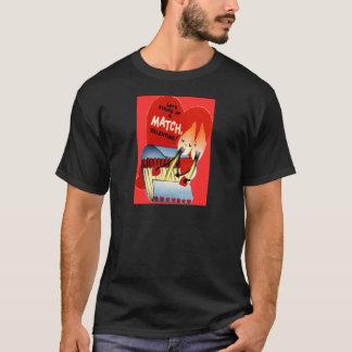 Rétro pochette d'allumettes vintage Valentine T-shirt
