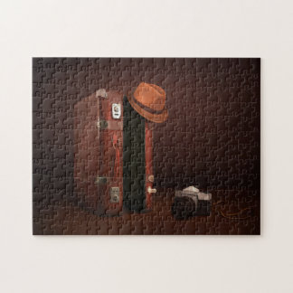Rétro puzzle de valise