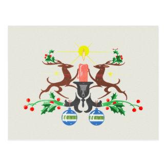 Rétro renne carte postale
