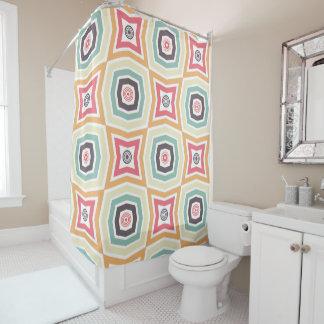Rétro rideau en douche coloré de motif
