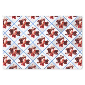 Retro rosebuds op stip tissuepapier