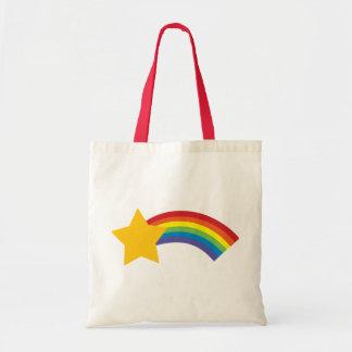 Tote Bag rétro sac d'étoile filante d'arc-en-ciel de bruit