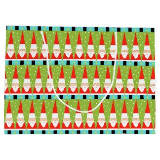 Rétro sac géométrique de cadeau de Père Noël