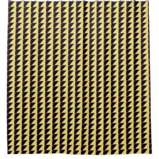Retro Scherpe Gele Gordijn van de Douche Douchegordijn