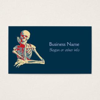 Rétro squelette cartes de visite