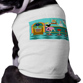 Rétro T-shirt de chien de fontaine de soude