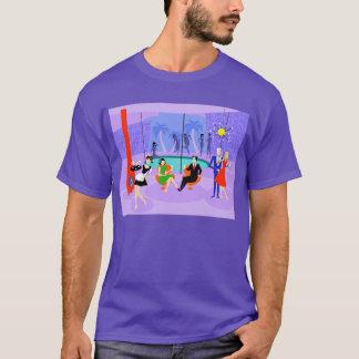 Rétro T-shirt tropical de cocktail
