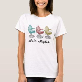 Rétro T-shirt vintage de chaise de coiffeur