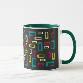 Rétro tasse carrée de style