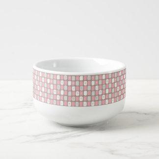 Rétro tasse rose de soupe à Starbursts