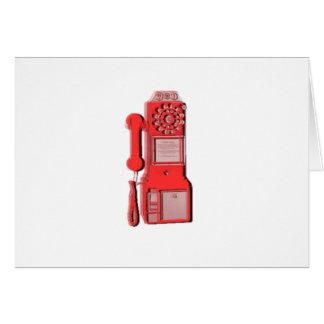 Rétro téléphone vintage carte